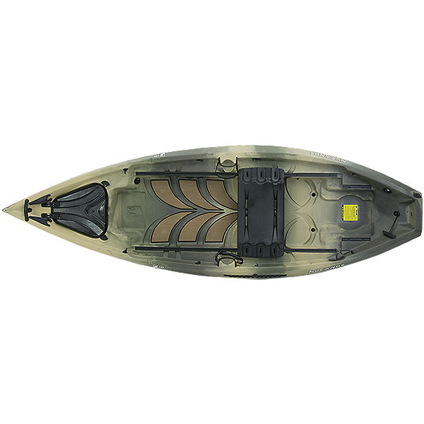 2020 NuCanoe Frontier 10 Kayak with Bench Seat, Army Camo, 600