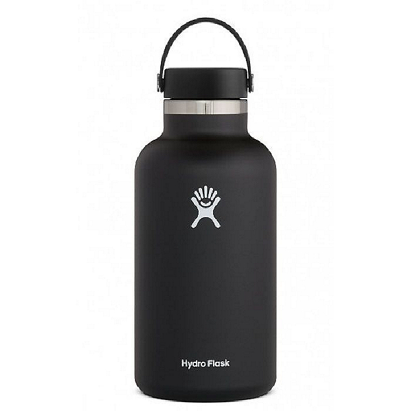 Hydro Flask 64 oz. Wide Mouth Bottle, Black, 600