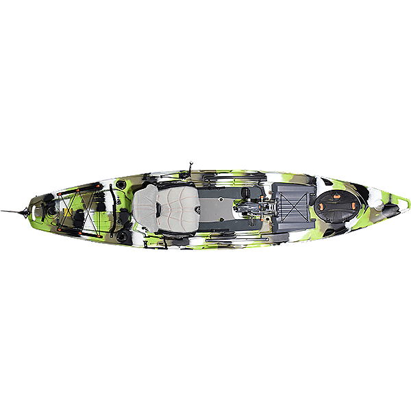 Feelfree Lure 13.5 v2 Kayak with Overdrive Pedal Drive 2021 Lime Camo, Lime Camo, 600
