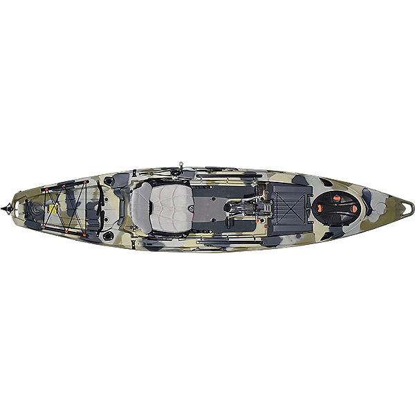 Feelfree Lure 13.5 v2 Kayak with Overdrive Pedal Drive, Desert Camo, 600