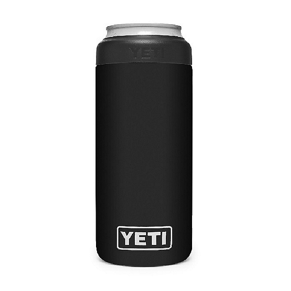 Yeti Rambler 12 oz Colster Slim Can Insulator, Black, 600