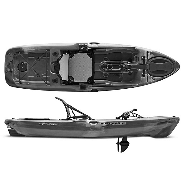 Native Watercraft Slayer Propel 10 Fishing Kayak 2021 Grey Goose, Grey Goose, 600