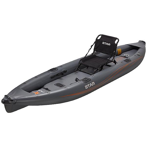 STAR Pike Inflatable Fishing Kayak 2021 Gray, Gray, 600