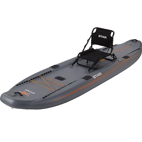 STAR Rival Inflatable Fishing Kayak 2021, Gray, 600