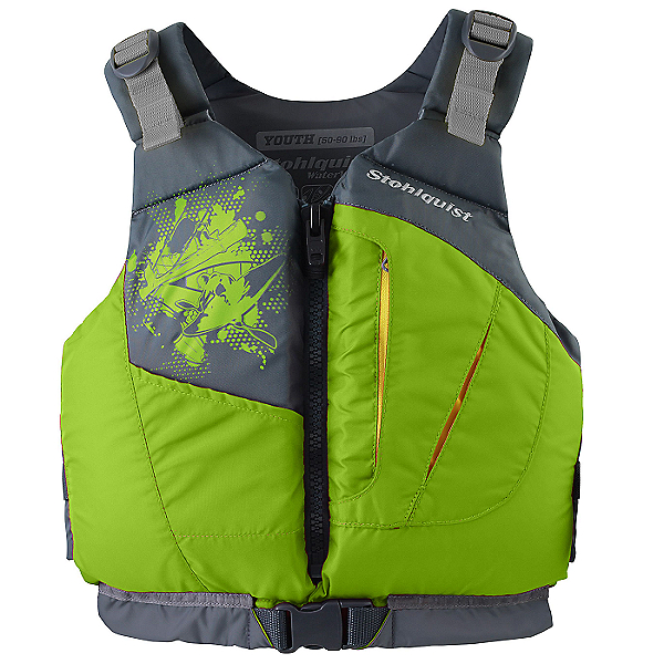 Stohlquist Escape Youth/Teen PFD 2021 Youth Lime - Youth 50-90 Lbs, Youth Lime, 600