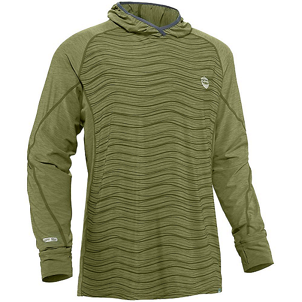 NRS Men's H2Core Silkweight Hoodie 2021 Olive - M, Olive, 600