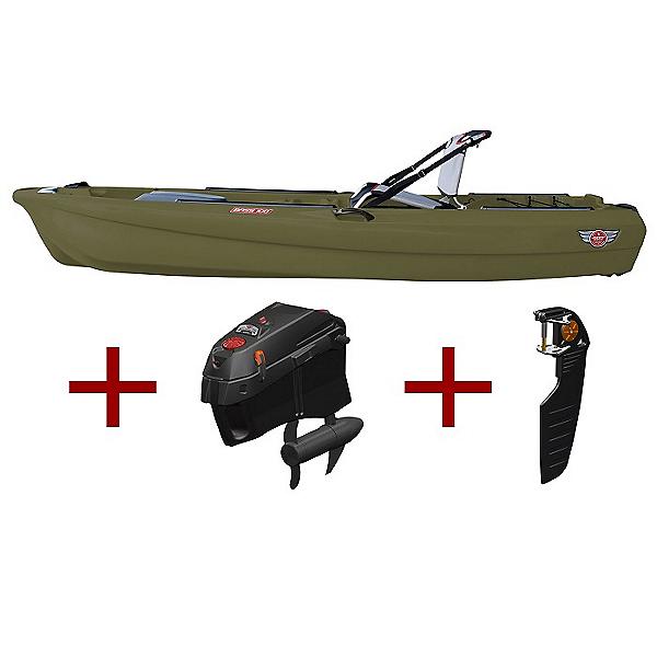 Jonny Boats Bass 100 w/ Jonny Pod Fixed Motor Package 2020, Army Green, 600