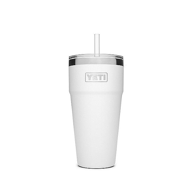 YETI Rambler 26 oz. Stackable Cup w/ Straw Lid White, White, 600