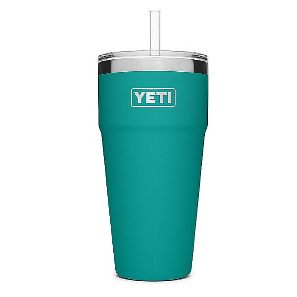 YETI Rambler 26 oz. Stackable Cup w/ Straw Lid, Aquifer Blue, 600