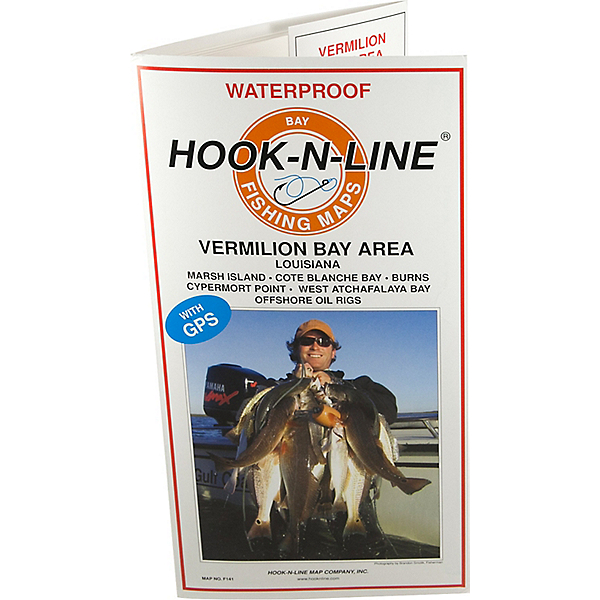 Hook-N-Line Map F141 Vermillion Bay Area Fishing Map (With GPS), , 600