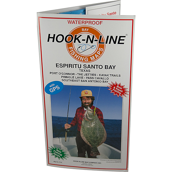 Hook-N-Line Map F135 Espiritu Santo Bay Fishing Map (With GPS), , 600