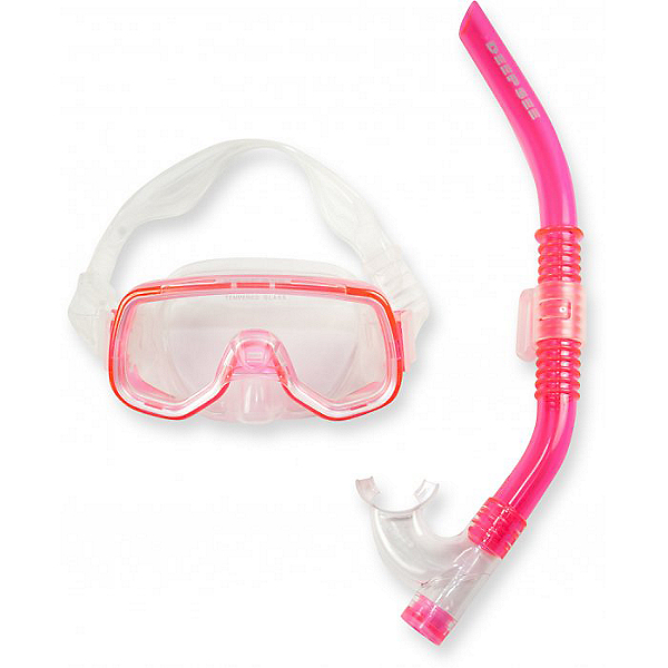 Deep See FunSet Silicone Mask and Snorkel for Kids, Pink, 600