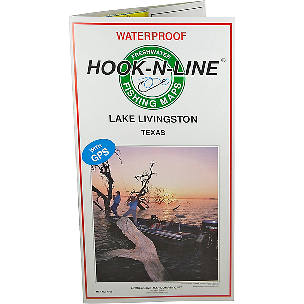 Hook-N-Line Map F106 Lake Livingston Map (With GPS ... on