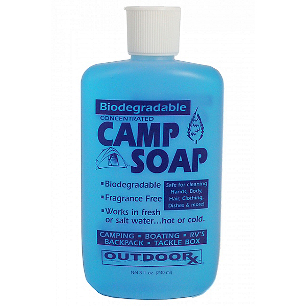 Outdoor Rx Biodegradable Camp Soap 8 oz. Unscented, , 600