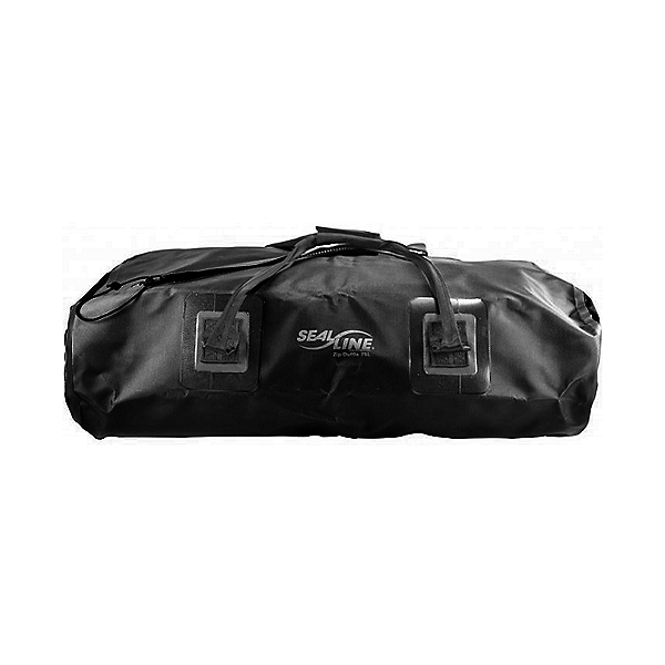 SealLine 75 Liter Zip Duffel Waterproof Dry Bag, Black, 600