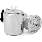 GSI Outdoors 6 Cup Glacier Stainless Steel Coffee Pot, , medium