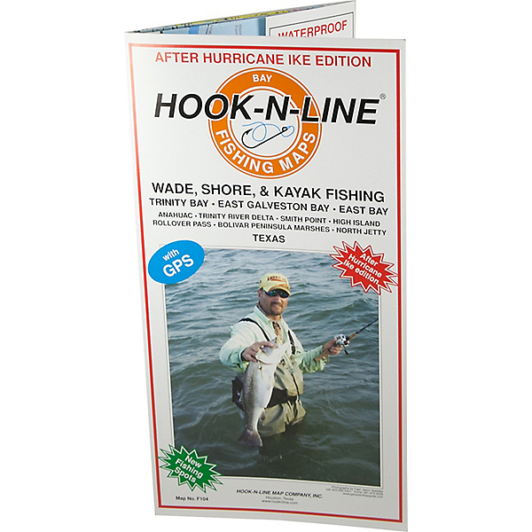 Hook-N-Line Map F104 Wade Fishing East Galveston Bay (With GPS), , 600