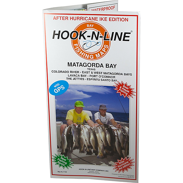 Hook-N-Line Map F108 Matagorda Bay Fishing Map (With GPS), , 600