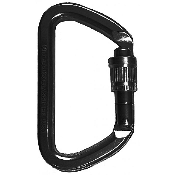 Omega Pacific G-FIRST Screw-Lok Carabiner, Black, 600