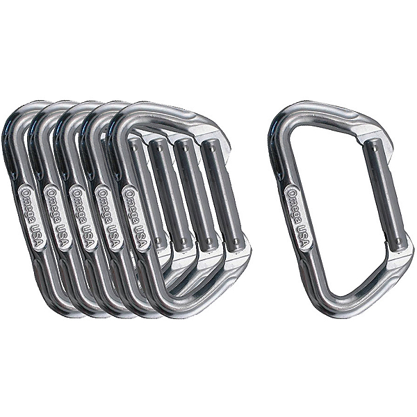 Omega Pacific Standard D Bright Carabiner - 6 pack, , 600
