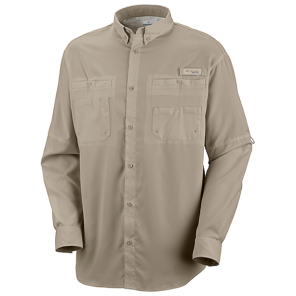 Columbia PFG Tamiami II Long Sleeve Shirt - Closeout, Fossil, 600