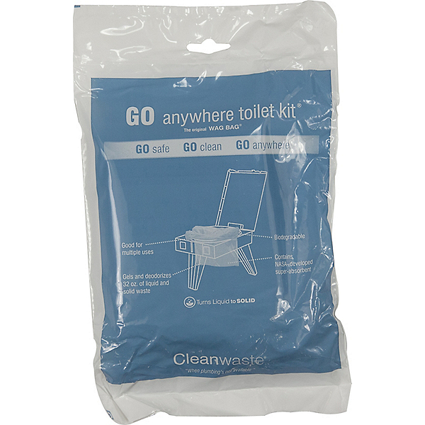 Cleanwaste GO Anywhere Toilet Kit - 12 pack Wag Bag, , 600