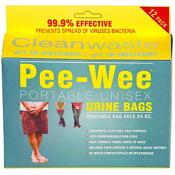 Cleanwaste Pee-Wee Unisex Urine Bag - 12 pack, , medium