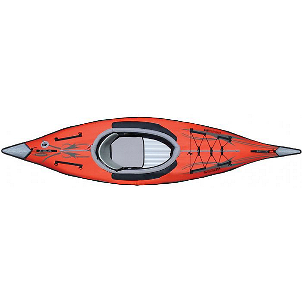 Advanced Elements AdvancedFrame Inflatable Kayak, Red/Gray, 600