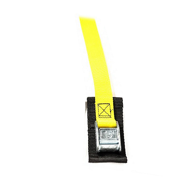 Cam Buckle 2 Ft. Tie Down Strap (Each), Yellow, 600
