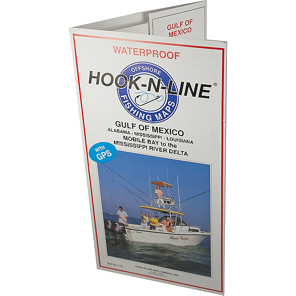 Hook-N-Line Map - F129 Gulf of Mexico Offshore Fishing Map (with GPS), , 600