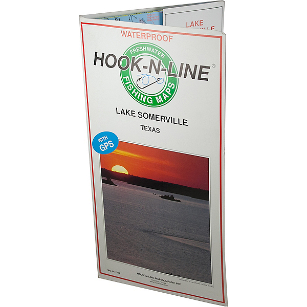 Hook-N-Line Map - F122 Lake Somerville Fishing Map (With GPS), , 600