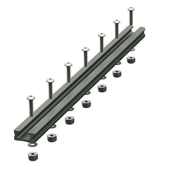 YakAttack Gear Trac GT90 12 Inch Aluminum Mounting Track - Single, , 600