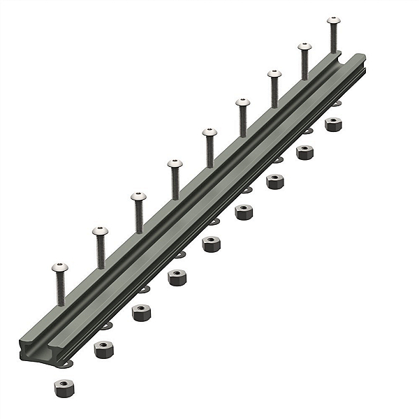 YakAttack Gear Trac GT90 16 Inch Aluminum Mounting Track - Single, , 600