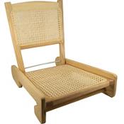 Harmony Folding Cane Canoe Chair, , medium