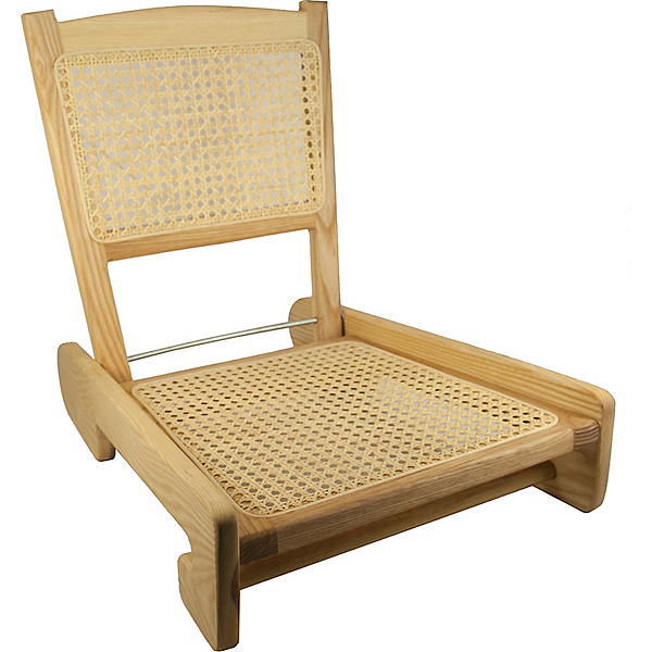 Harmony Folding Cane Canoe Chair, , 600