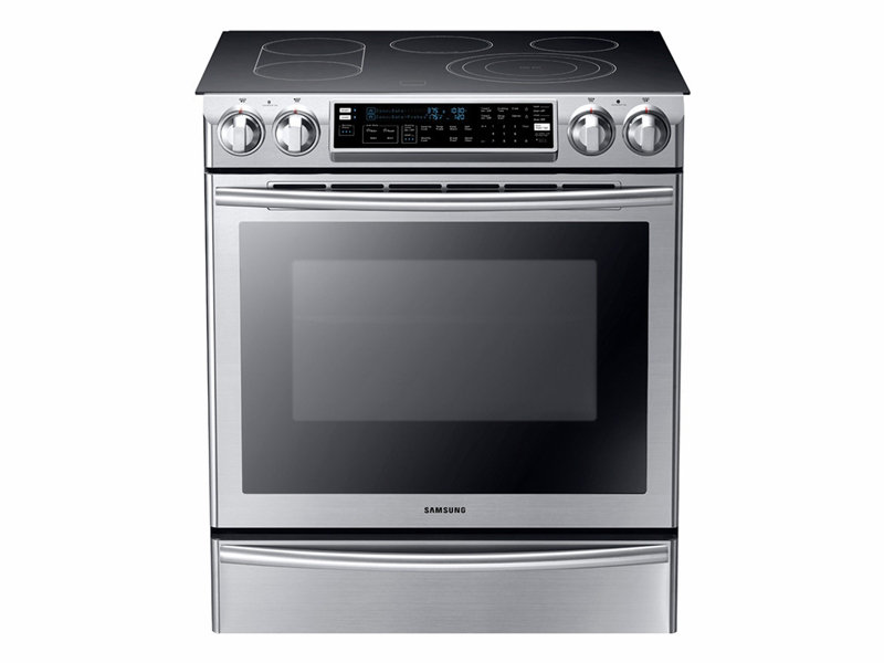 5 8 cu ft slide in electric range with flex duo oven ranges