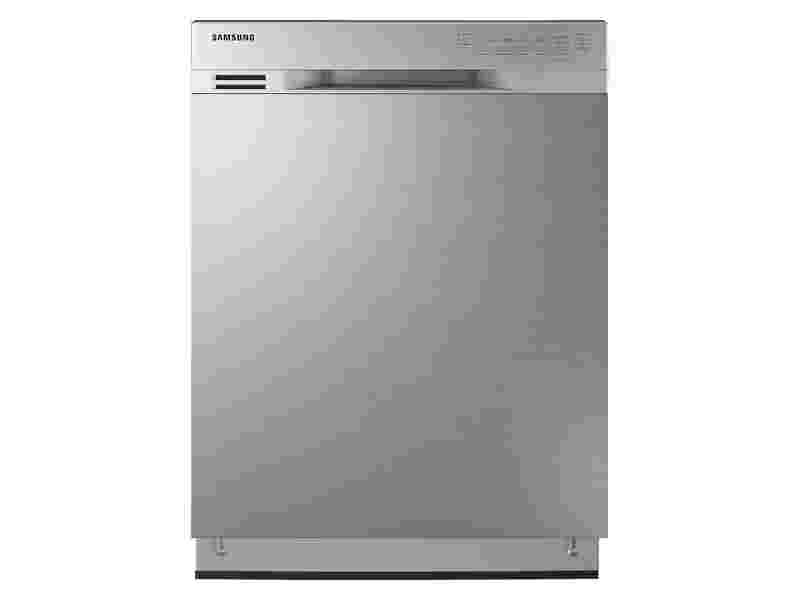 Front control dishwasher with stainless steel interior dishwashers dw80j3020us aa samsung us for White dishwasher with stainless steel interior