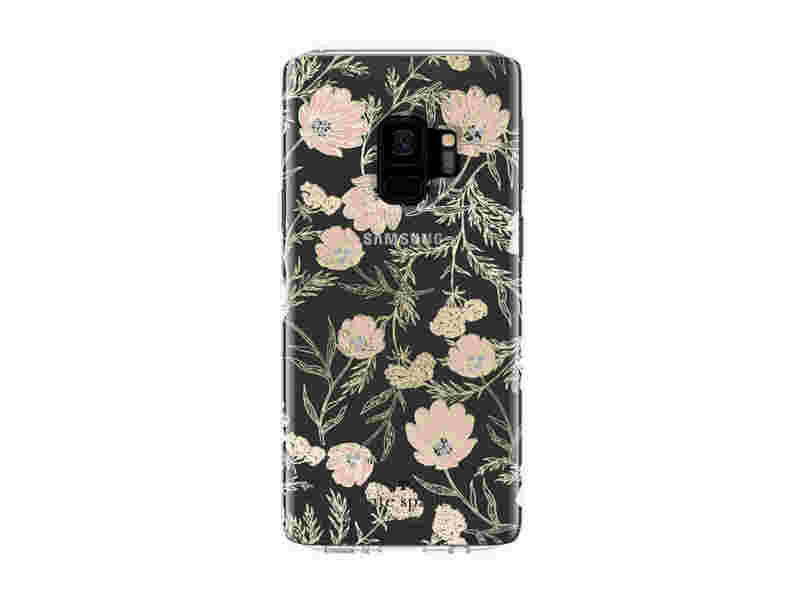 Kate Spade Protective Hardshell Case for Galaxy S9, Blossom