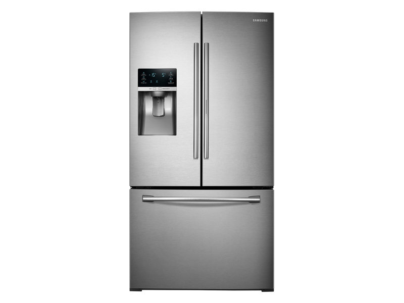Charmant 3 Door French Door Food ShowCase Refrigerator With Dual Ice