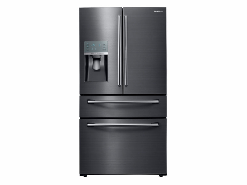 refrigerator black. 4-door french door food showcase refrigerator black g