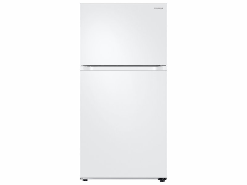 white refrigerator with ice maker. capacity top freezer refrigerator with flexzone™ and automatic ice maker white