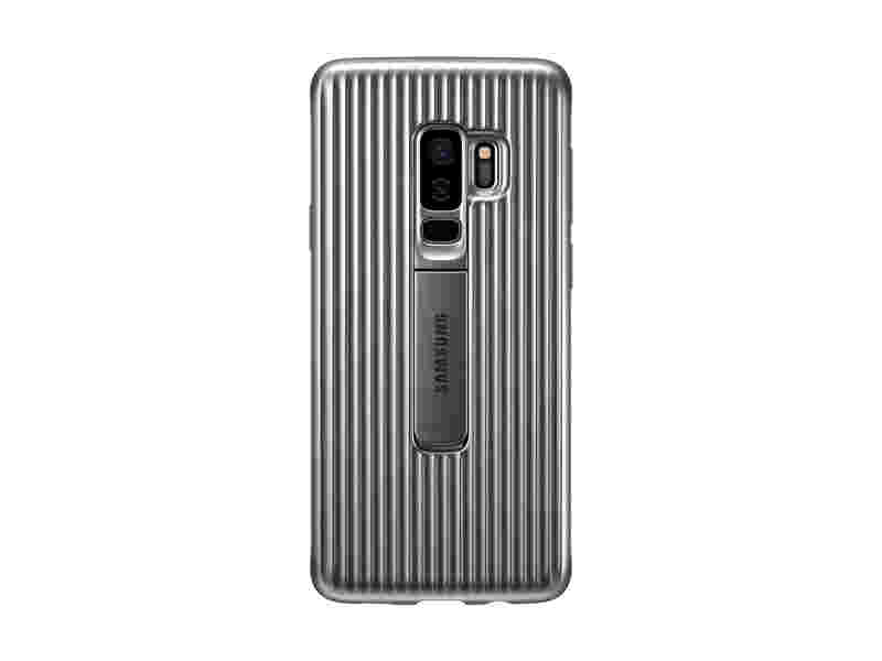 Galaxy S9+ Rugged Protective Cover, Silver