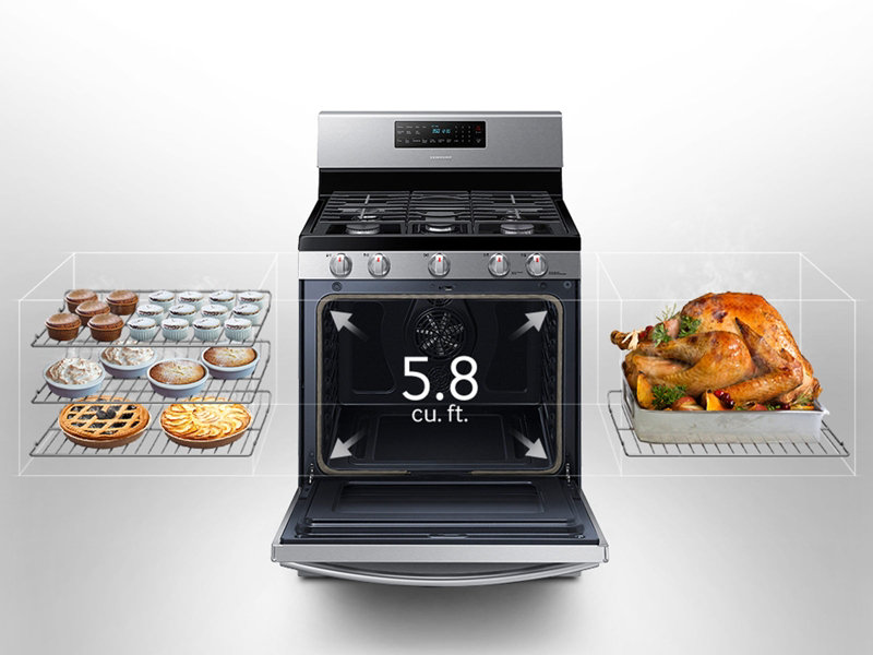 5 8 cu ft gas range with convection ranges nx58h5600ss aa rh samsung com Energy Star Label Five Star Range