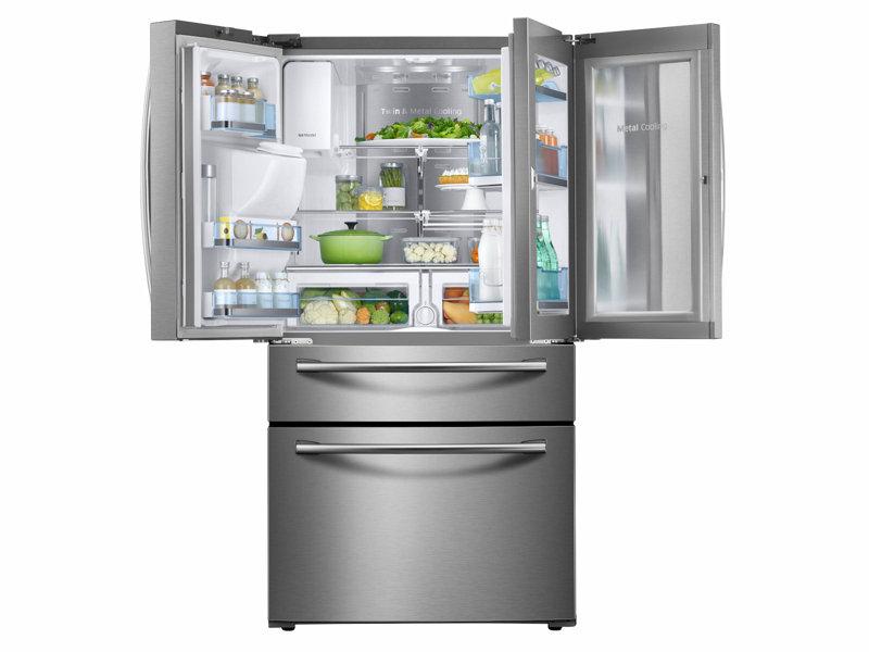 4 Door French Door Food Showcase Refrigerator