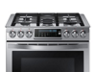 Thumbnail image of 5.8 cu. ft. Slide-in Gas Chef Collection Range with True Convection