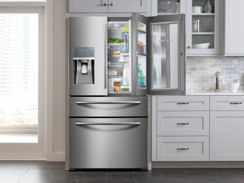 4 Door French Door Food Showcase Refrigerator