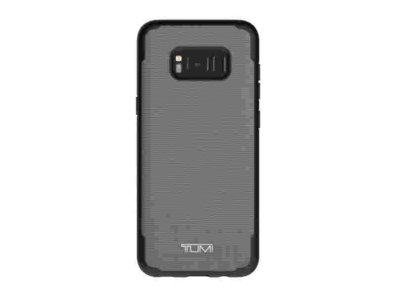 TUMI Coated Canvas Co-Mold Case for Galaxy S8+, Grey