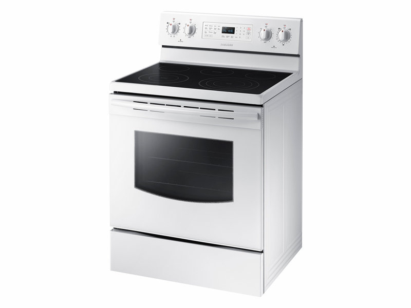 white electric range. Electric Range With True Convection White