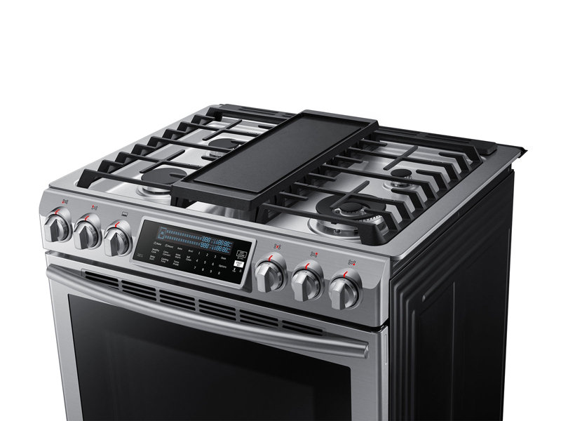 5.8 cu. ft. Slide-In Gas Range with True Convection Ranges ...