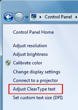 Turn On ClearType In Windows 7
